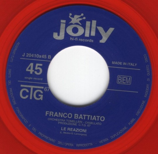 etichetta del disco 2 (lato B)